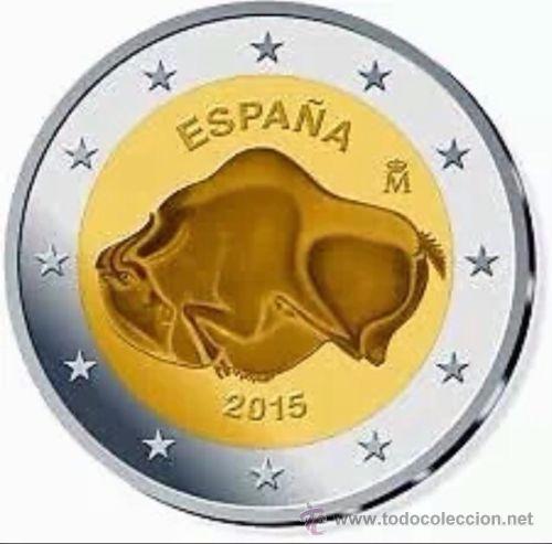 2 EUROS ESPAÑA CONMEMORATIVA 2015 *BISONTE ALTAMIRA* ENCARTONADA (Numismática - España Modernas y Contemporáneas - Ecus y Euros)