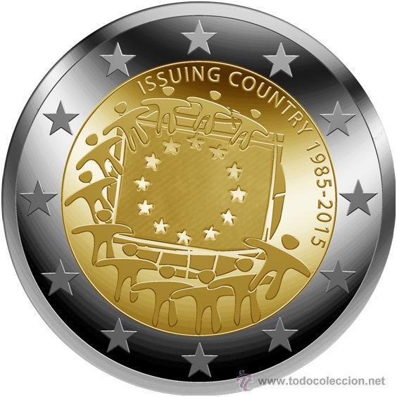 ESLOVAQUIA / SLOVAQUIA 2 EUROS 2015 30º ANIVERSARIO DE LA BANDERA EUROPEA (Numismática - España Modernas y Contemporáneas - Ecus y Euros)