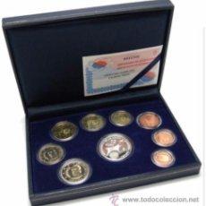 Euros: ESPAÑA ESTUCHE SISTEMA MONETARIO EURO 2002 -PROOF- 9 PIEZAS ENCAPSULADAS. Lote 185883628