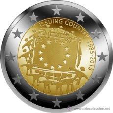 Euros: HOLANDA 2 EUROS 2015 30º ANIVERSARIO DE LA BANDERA EUROPEA. Lote 189217816