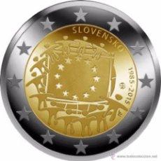 Euros: ESLOVAQUIA 2015 2€ COMUN 30 ANIVERSARIO DE LA BANDERA. Lote 76663718
