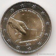 Euros: MALTA 2011. MONEDA DE 2 EUROS CONMEMORATIVA DEL SUFRAGIO UNIVERSAL. Lote 143530926