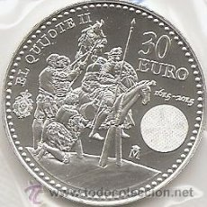 Euros: ESPAÑA 2015. MONEDA DE PLATA DE 30 EUROS HOMENAJE AL QUIJOTE II. Lote 113092155