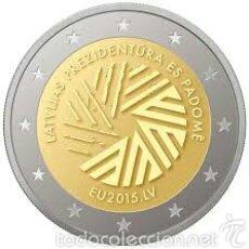 Euros: 2 EUROS CONMEMORATIVA LETONIA 2015 PRESIDENCIA UE . SC. Lote 147483634