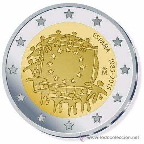 ESPAÑA 2015 2€ COMUN BANDERA (Numismática - España Modernas y Contemporáneas - Ecus y Euros)