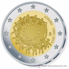 Euros: ESPAÑA 2015 2€ COMUN BANDERA. Lote 140343250