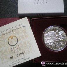 Euros: 10 EUROS 2003 AUSTRIA CASTILLO DE SCHONBRUNN - CALIDAD PROOF PLATA. Lote 53704311