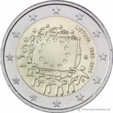 Euros: 2 EUROS CONMEMORATIVA LITUANIA 2015 . BANDERA EU . SC. Lote 269950938
