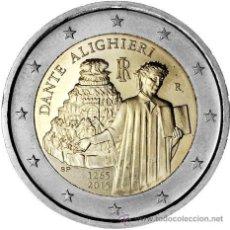 Euros: ITALIA 2 EUROS 2015 450º ANIVERSARIO DEL NACIMIENTO DE DANTE ALIGHIERI. Lote 192985646