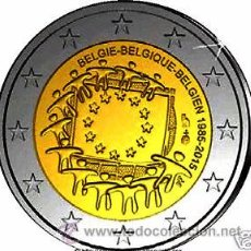 Euros: BELGICA 2015. MONEDA DE 2 EUROS COMUN DE HOMENAJE A LA BANDERA. Lote 143529889