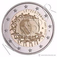 Euros: LUXEMBURGO 2015. MONEDA DE 2 EUROS COMUN DE HOMENAJE A LA BANDERA. Lote 143529385