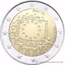 Euros: MALTA 2015. MONEDA DE 2 EUROS COMUN DE HOMENAJE A LA BANDERA. Lote 143529433