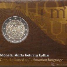 Euros: LITUANIA 2015. COINCARD MONEDA DE 2 € CONMEMORATIVA DEL LENGUAJE LITUANO. Lote 113755739