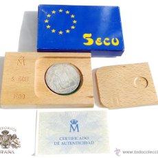 Euros: CAJITA CON MONEDA DE 5 ECU 1989. CARLOS V. Lote 54545690