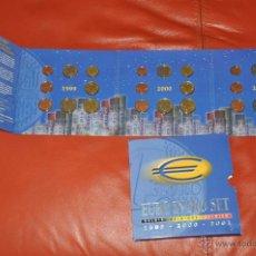 Euros: CARTERA OFICIAL DE EUROS BELGICA EURO SET 1999 2000 2001 TRIPLE. Lote 54564564