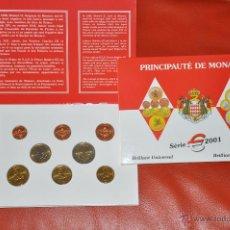 Euros: CARTERA OFICIAL DE EUROS MONACO EURO SET 2001. Lote 54564619
