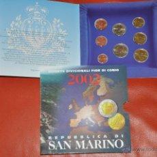 Euros: CARTERA OFICIAL DE EUROS SAN MARINO EURO SET 2002. Lote 54564656