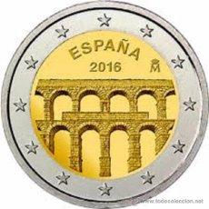 Euros: ESPAÑA 2016. MONEDA DE 2 EUROS CONMEMORATIVA DEL ACUEDUCTO DE SEGOVIA.. Lote 143530877