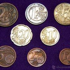 Euros: JUEGO DE 8 MONEDAS DE EUROS DE PRUEBA DE ALAVA. (2 EUROS- 1 EURO- 50, 20,10,5,2 CENTIMOS- 1 CENTIMO). Lote 54955170