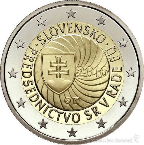 ESLOVAQUIA 2 EUROS 2016 PRESIDENCIA DEL CONSEJO DE LA UNION EUROPEA (Numismática - España Modernas y Contemporáneas - Ecus y Euros)