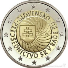 Euros: ESLOVAQUIA 2 EUROS 2016 PRESIDENCIA DEL CONSEJO DE LA UNION EUROPEA. Lote 193656025