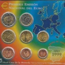 Euros: CARTERA DE EUROS DE ESPAÑA AÑO 1999 SC SERIE COMPLETA 8 VALORES. Lote 101119696
