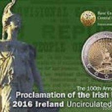 Euros: IRLANDA 2016. COINCARD MONEDA DE 2 EUROS CONMEMORATIVA DE HIBERNIA. Lote 56627446