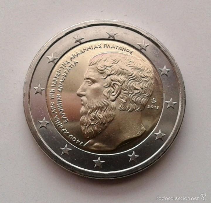 2 EUROS GRECIA 2013 PLATON (Numismática - España Modernas y Contemporáneas - Ecus y Euros)