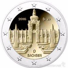 Euros: ALEMANIA 2016. MONEDA DE 2 EUROS CONMEMORATIVA DE SACHSEN (DRESDE). 1 CECA.. Lote 195493965