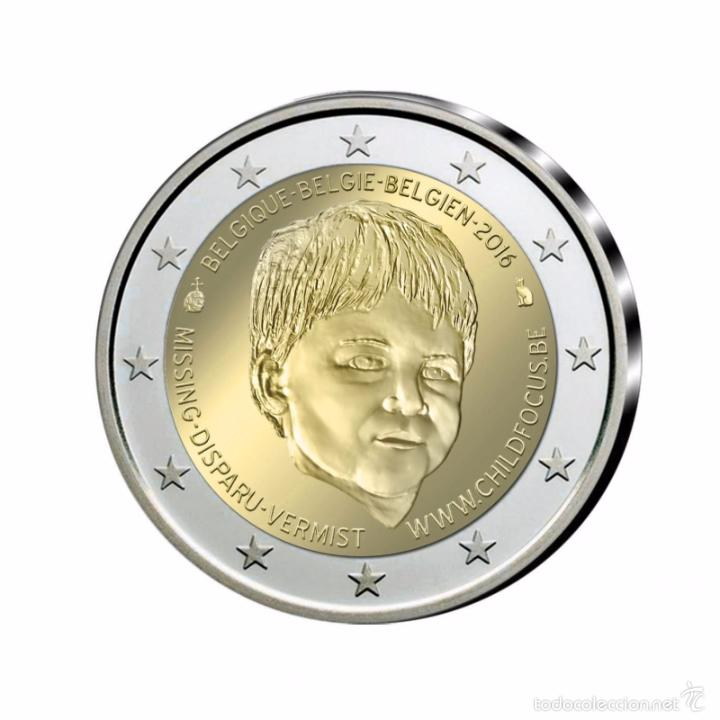 Euros: BELGICA 2016. MONEDA DE 2 EUROS CHILD FOCUS PROOF CON CAJA Y CERTIFICADO - Foto 1 - 58319777
