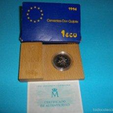 Euros: MONEDA DE 1 ECUS DE PLATA DEL AÑO 1,994 NUEVA EN SU ESTUCHE ORIGINAL CON CERTIFICADO. Lote 59123595