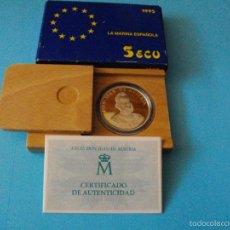 Euros: MONEDA DE 5 ECUS DE PLATA DEL AÑO 1,995 NUEVA EN SU ESTUCHE ORIGINAL CON CERTIFICADO . Lote 59124865