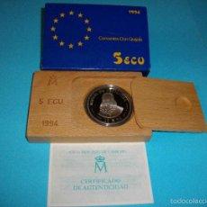 Euros: MONEDA DE 5 ECUS DE PLATA DEL AÑO 1,994 NUEVA EN SU ESTUCHE ORIGINAL CON CERTIFICADO . Lote 59125640