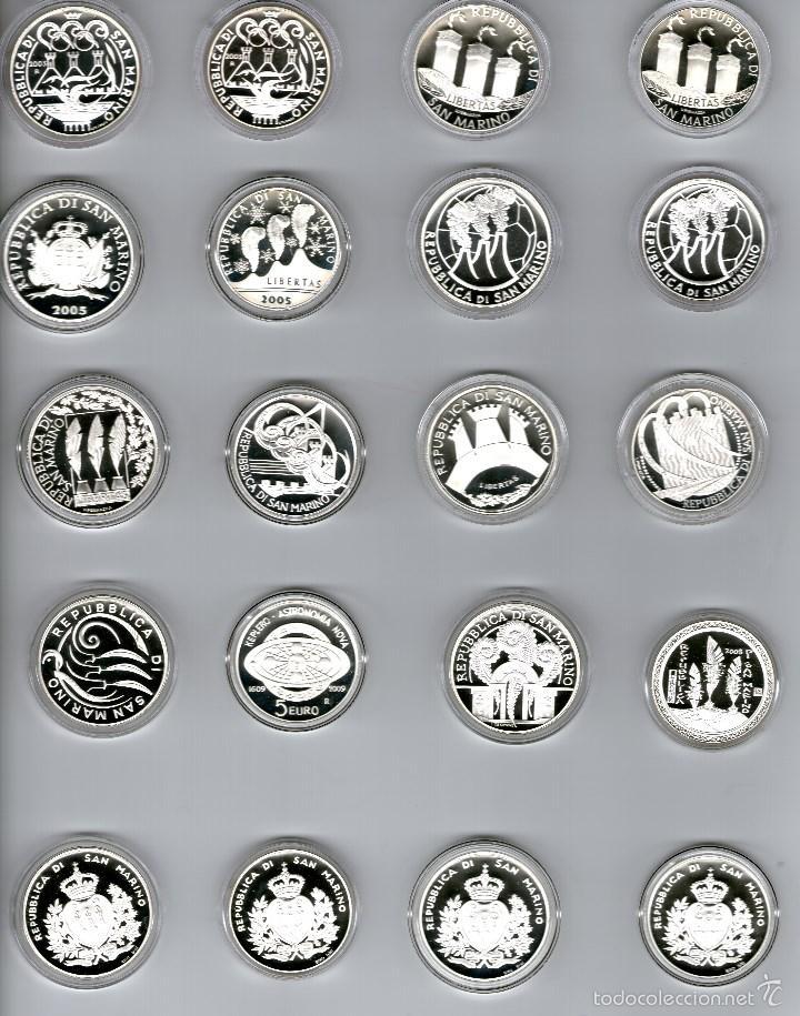 Euros: SAN MARINO----COLECCION MONEDAS PLATA 5€ y 10€ -----2002-2011 - Foto 2 - 59754300