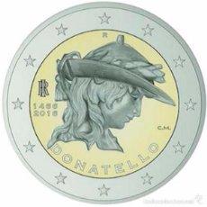Euros: ITALIA 2016. MONEDA CONMEMORATIVA DE 2 EUROS DE DONATELLO. DE CARTUCHO. Lote 143528648