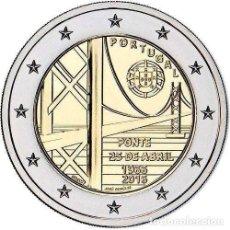 Euros: PORTUGAL 2 EUROS 2016 50 AÑOS DEL PUENTE 25 DE ABRIL. Lote 210592705