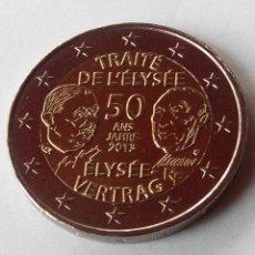 Euros: MONEDA FRANCIA 2 EURO AÑO 2013 - CONM. 50 ANIVERSARIO TRATADO DEL ELISEO.MBC. Lote 64105607