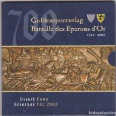 Euros: EUROS - BELGICA - SERIE 8 MONEDAS - EN CARTERA OFICIAL 2002. Lote 181335568