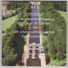 Euros: EUROS - BELGICA - SERIE 8 MONEDAS - EN CARTERA OFICIAL 2007. Lote 141123184