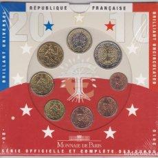 Euros: EUROS - FRANCIA - SERIE DE 8 MONEDAS - EN CARTERA OFICIAL - 2010. Lote 67358741