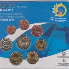 Euros: EUROS - GRECIA - SERIE DE 8 MONEDAS - EN CARTERA OFICIAL - 2011. Lote 67508261
