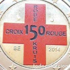 Euros: BONITA MONEDA DE 2€ BELGICA 2014 CRUZ ROJA VERSION CON COLOR SIN CIRCULAR MUY DIFICIL DE CONSEGUIR. Lote 69057413