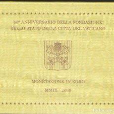 Euros: MONEDAS - VATICANO - SERIE 2009 - (8 MONEDAS) EN CARTERA OFICIAL. Lote 172988102
