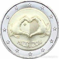 Euros: 2 EUROS CONMEMORATIVA MALTA 2016 SOLIDARIDAD AMOR .SC. Lote 177572749