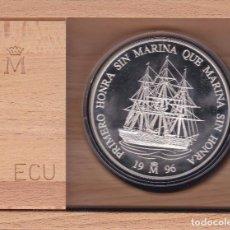 Euros: CINCUENTIN DE PLATA 25 ECU 1996 FRAGATA VILLA DE MADRID CON ESTUCHE CERTIFICADO DE AUTENTICIDAD. Lote 73457251
