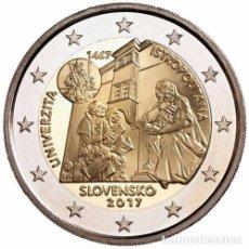 Euros: 2 EUROS CONMEMORATIVA ESLOVAQUIA 2017 UNIVERSIDAD ISTROPOLITANA SC. Lote 269950743