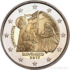 Euros: ESLOVAQUIA 2 EUROS 2017 550º ANIVERSARIO DE LA UNIVERSIDAD ISTROPOLITANA. Lote 229287025