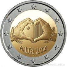 Euros: MALTA 2 EUROS 2016 LOS NIÑOS Y LA SOLIDARIDAD - EL AMOR. Lote 248418065