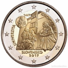 Euros: ESLOVAQUIA 2017. MONEDA DE 2 EUROS CONMEMORATIVA DE LA UNIVERSIDAD ISTROPOLITANA.. Lote 143528872