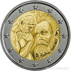 Euros: MONEDA DE 2 EUROS CONMEMORATIVOS DE FRANCIA 2017. CENTENARIO DE LA MUERTE DE RODIN. SIN CIRCULAR.. Lote 75234339